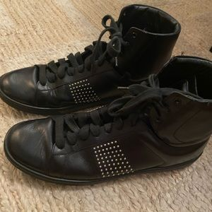 Saint Laurent Leather High Top Sneakers 37.5